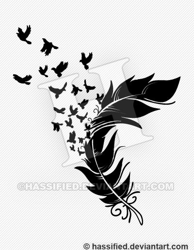 feather into birds - Google Search Veggpynt Feather, Design, Art