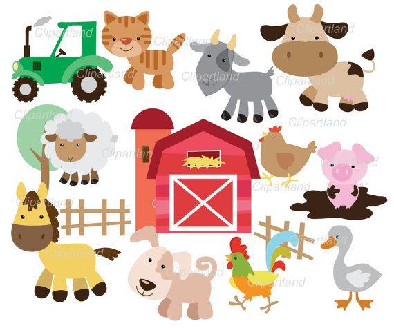 On Sale Instant Download Farm Animals Clip Art Cf 9 Etsy Clip Art Animals Clip Art Etsy Banner