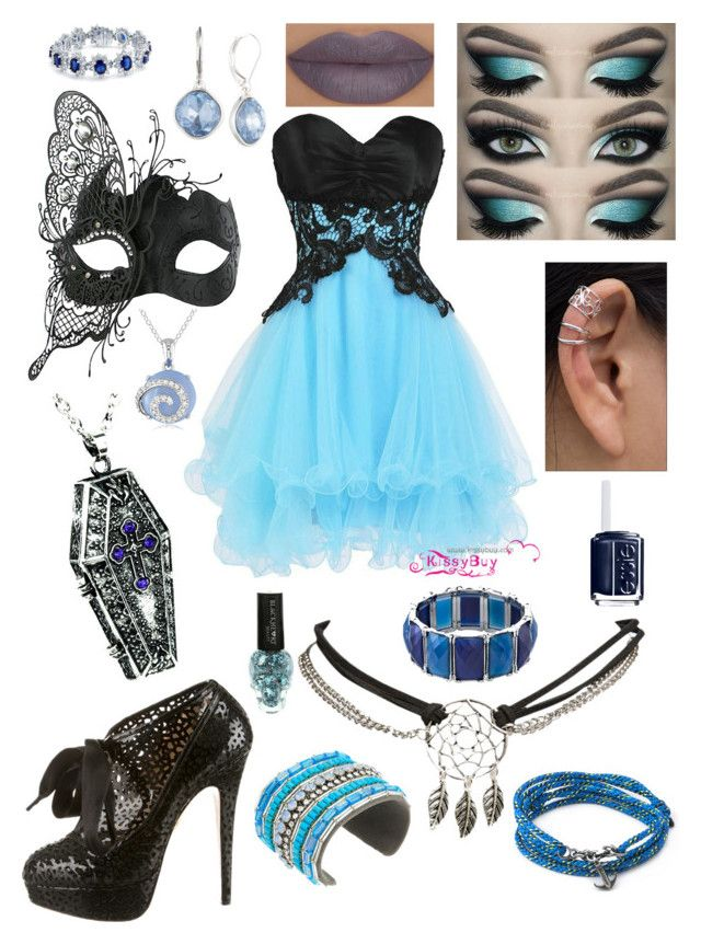 """""""Prom Night"""" by shadowfax9 ❤ liked on Polyvore featuring Charlotte Olympia, Masquerade, She's So, Wet Seal, Nine West, NOVICA, 1928, Bling Jewelry, Gypsy SOULE and Anchor & Crew"""