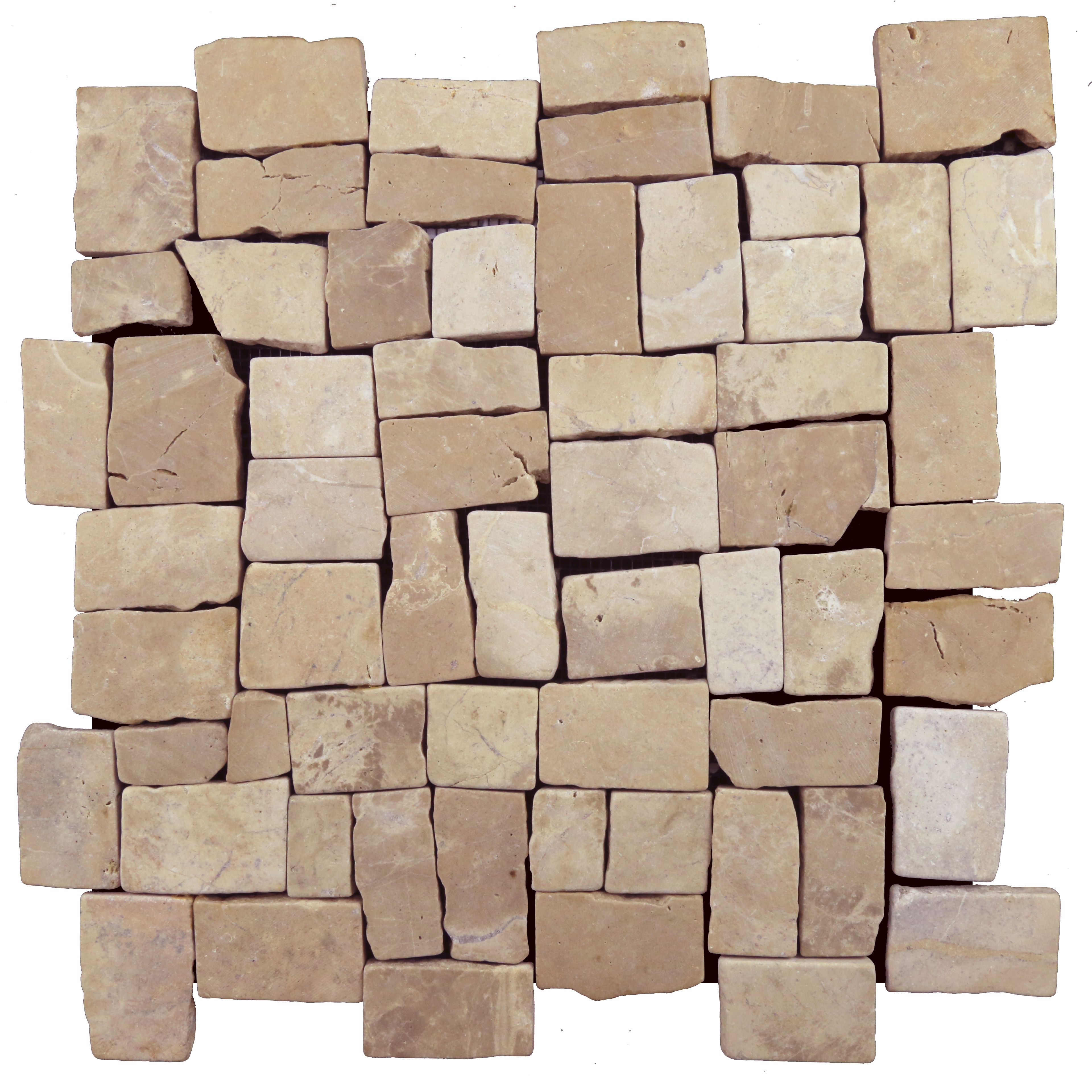 Easy To Install Mesh Backed Interlocking Natural Stone Tile Made Out Of High Quality Indonesian Tan Marble Ston Pebble Mosaic Tile Pebble Tile Mosaic Tiles