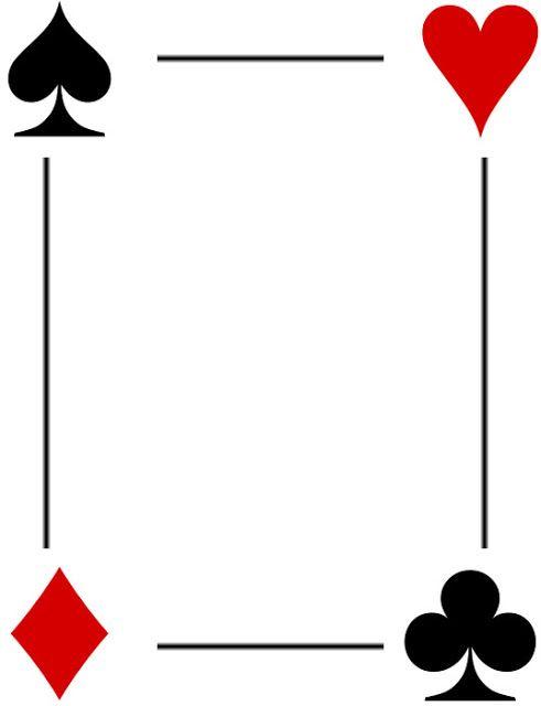 Bordes Decorativos: Bordes decorativos de cartas de Poker para ...