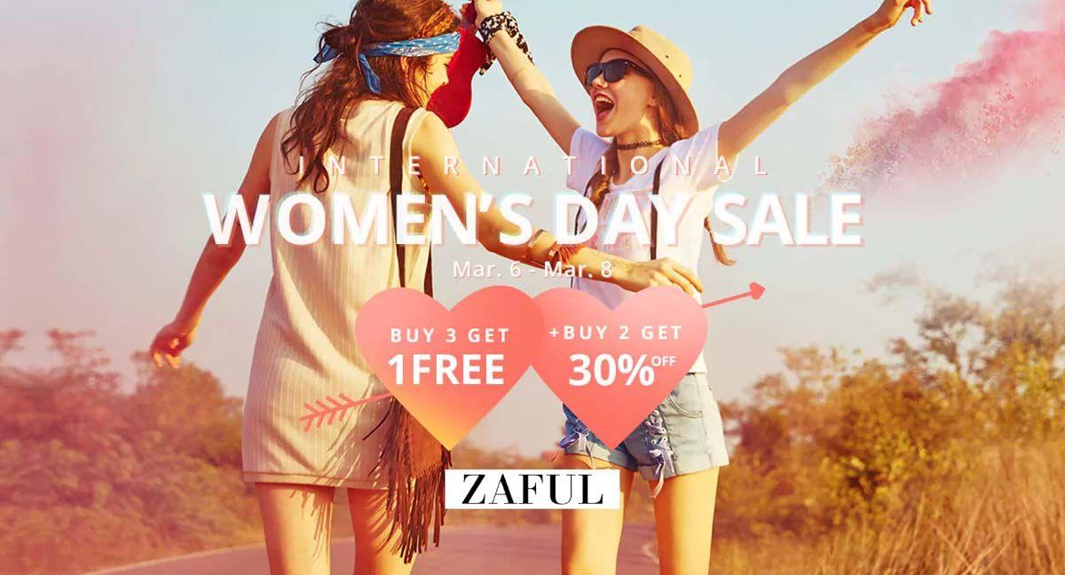 bdf1ac7a #Zaful International Women's Day Sale Buy 3 Get 1 Free + Buy 2 Get 30% off  #Swimwear #Dresses #Tops #Sports #Accessories #Fashion
