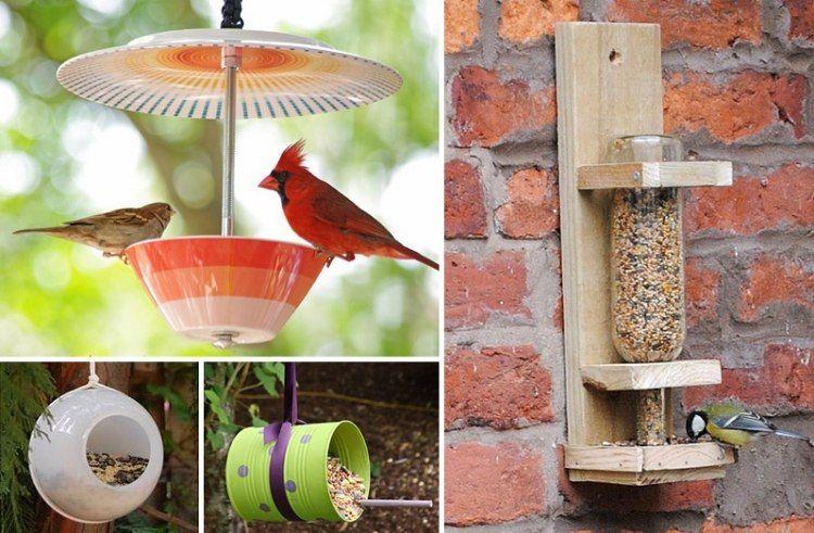 Mangeoire oiseaux dans le jardin 25 id es faciles - Astuce bricolage jardin ...