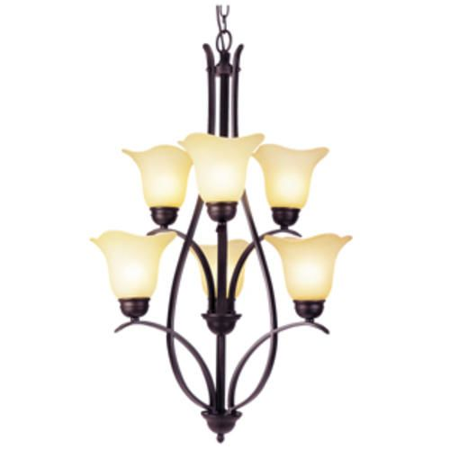 Adalynn 6 Light 23 Rubbed Oil Bronze Chandelier At Menards Dining Room