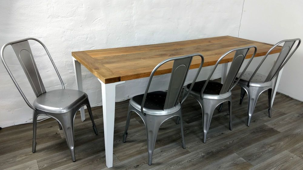 Massivholz Design Esszimmer Massiv Esstisch Holz Tisch 220 Cm Vintage Shabby