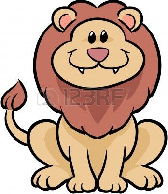Cute Easy To Draw Lion Cute Lion Vector Illustration