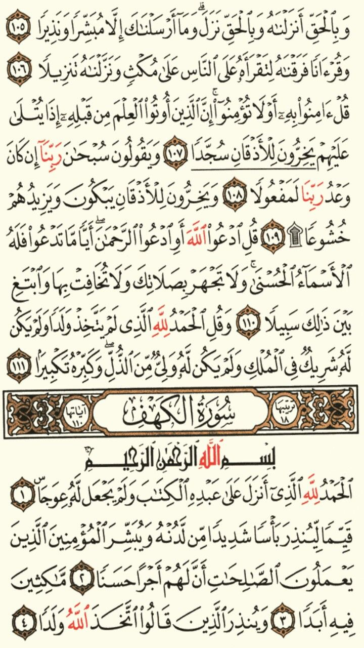 سورة الاسراء الجزء الخامس عشر الصفحة 293 Quran Holy Quran Holy Quran Book