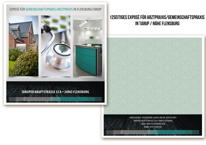 Coverdesign Exposé Immobilien Arztpraxis Cover design