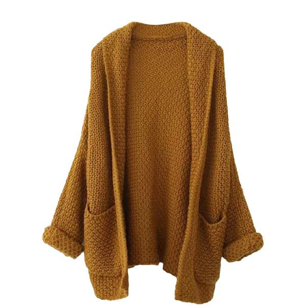 Blackfive Batwing Sleeves Open Front Md-long Cardigan ($30 ...