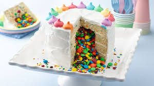 Image result for surprise rainbow cake