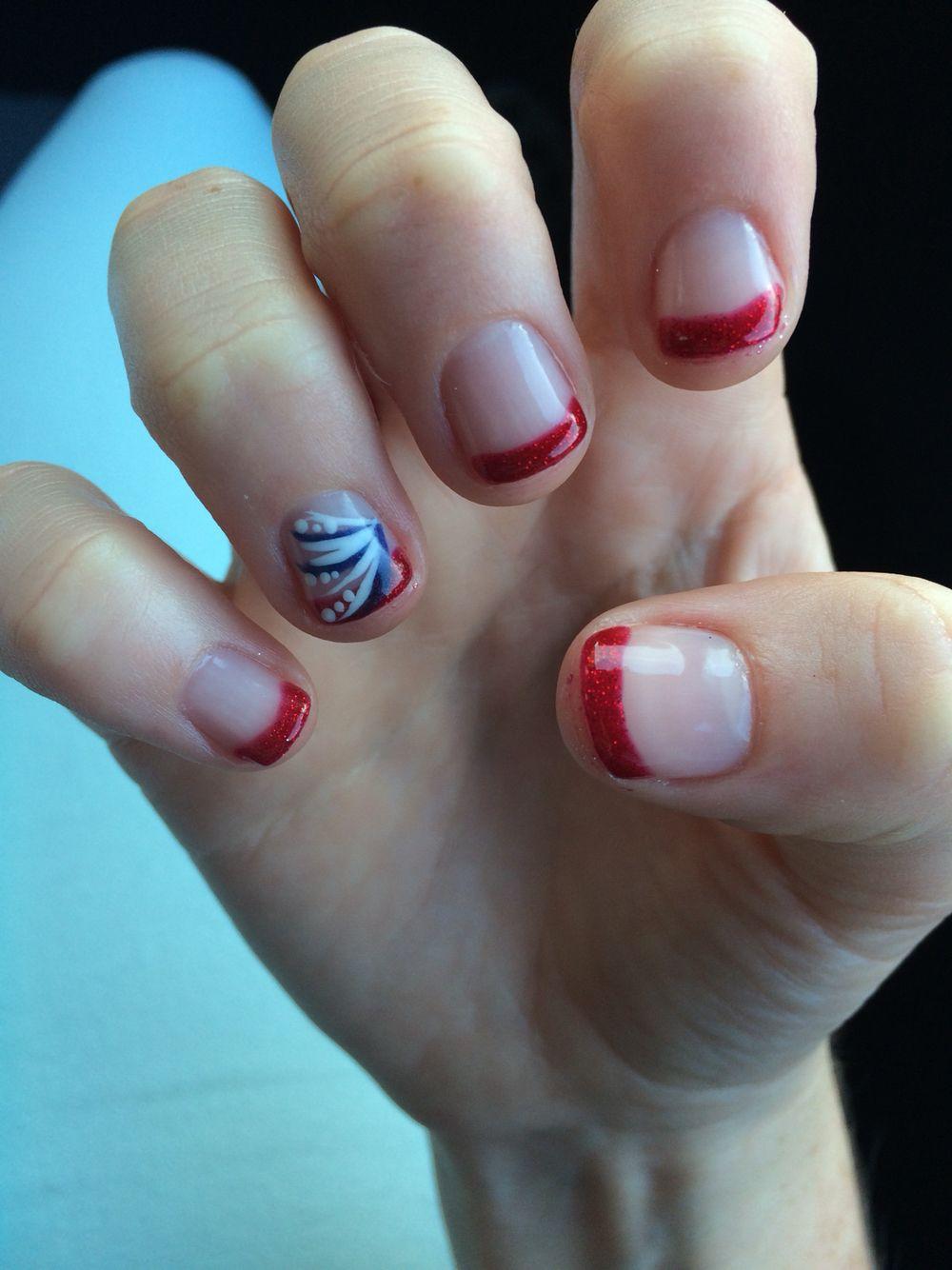 Gelish No Chip Polish 4th of July nails | My Nails | Pinterest