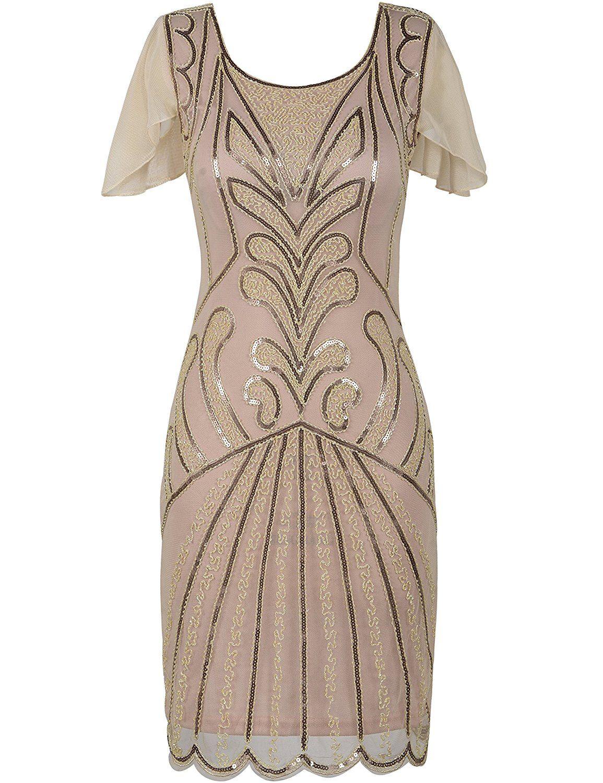 PrettyGuide Women\'s Flapper Dress 1920s Vintage Bead Deco Inspired ...
