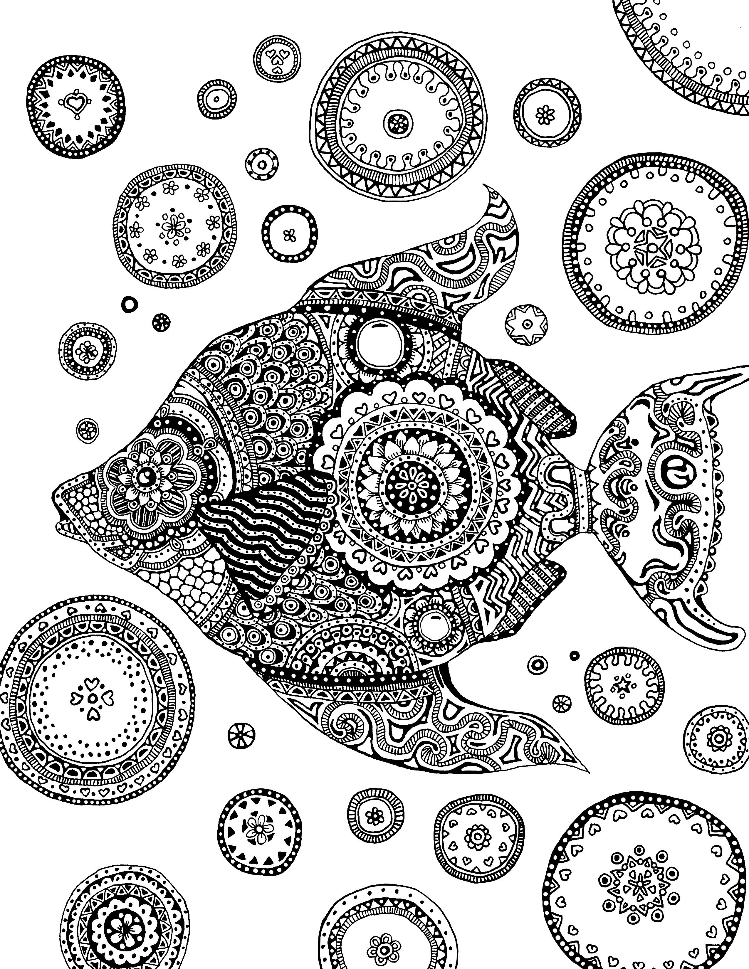 underwater bubbles coloring pages - photo#29