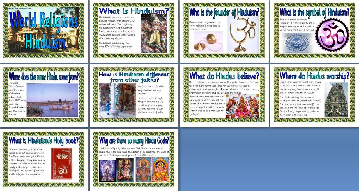 Ks2 re teaching resource hinduism printable classroom display ks2 re teaching resource hinduism printable classroom display posters for primary schools buycottarizona Gallery