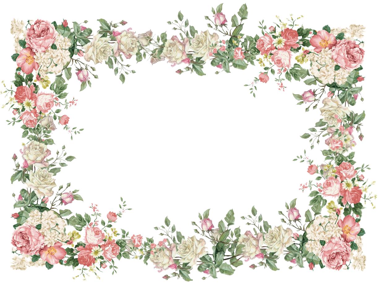 free faux vintage flower frame png Vintage Rosenrahmen