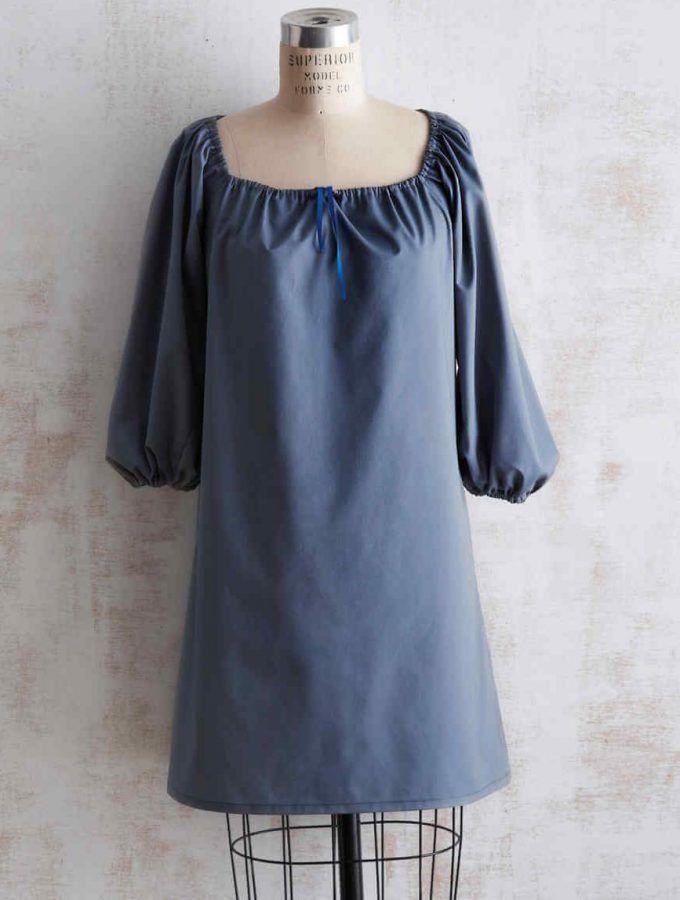 Kleid und Bluse mit gerafftem Ausschnitt | Nähen | Pinterest ...