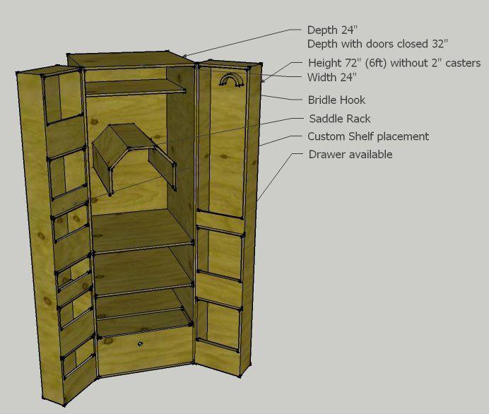 Tack locker design horse stuff pinterest locker for Tack cabinet plans