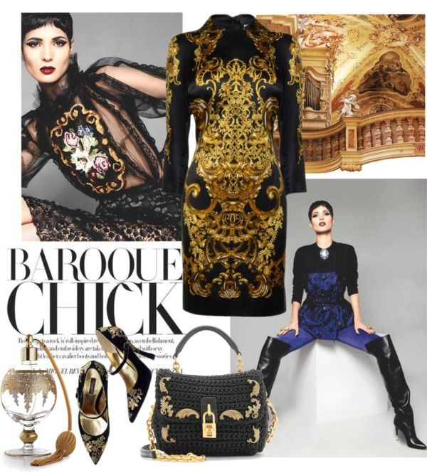 """""""Baroque chic"""" by nataly212 ❤ liked on Polyvore"""