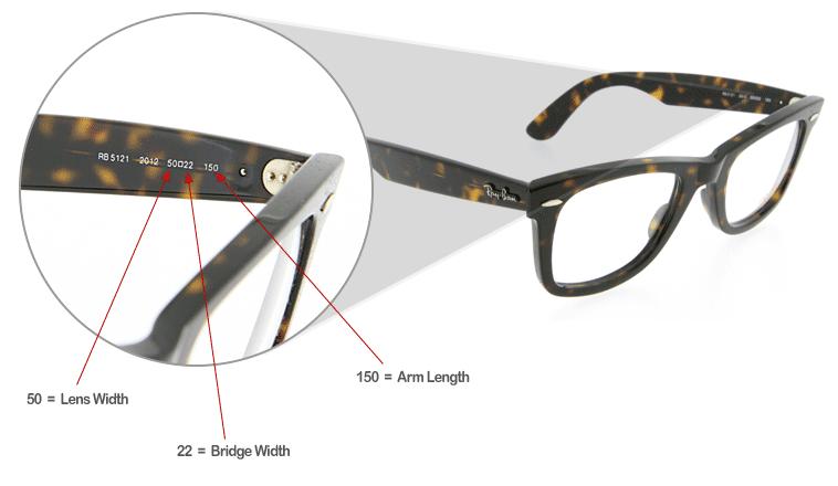 Ray Ban Size Chart Eyewear Glasses Sunglasses Clear Sunglasses