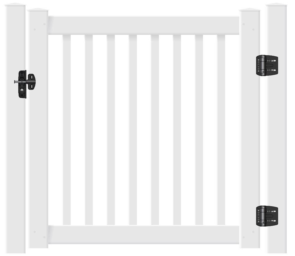 Certainteed Evernew 3 Kingston Gate Kit Square Balusters Gate Kit Vinyl Exterior Vinyl Railing