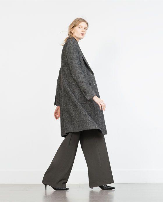 ZARA - WOMAN - MASCULINE HERRINGBONE COAT
