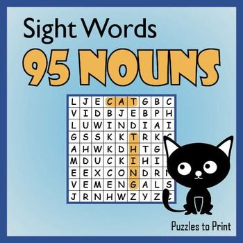 Nouns Word Search Puzzle Pack | Word search, Word search puzzles and ...