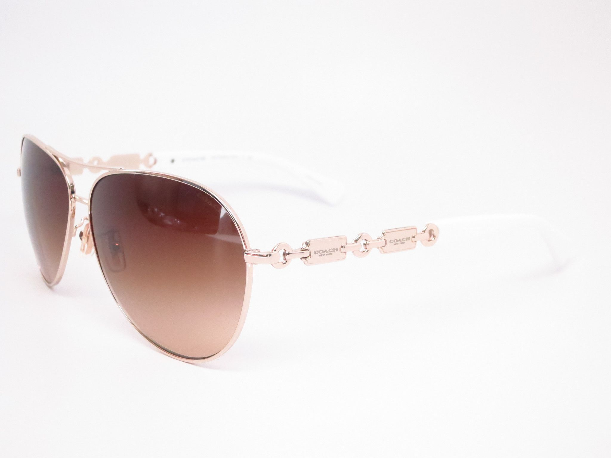 41602f40682 Coach HC 7048 9208 13 Light Gold   White Sunglasses