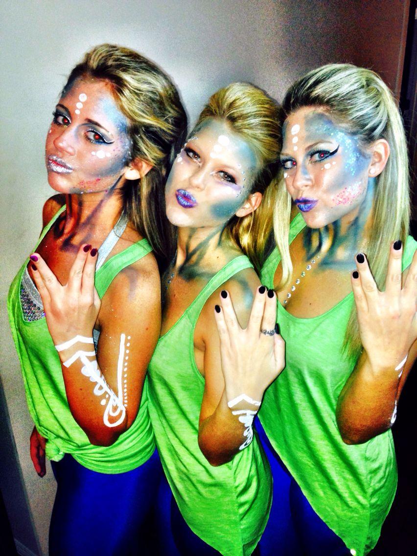 coolest halloween costume #aliens #halloweenmakeup #sexy #unique
