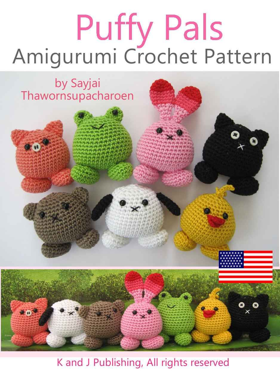 Amazon.com: Puffy Pals Amigurumi Crochet Pattern (Easy Crochet Doll ...