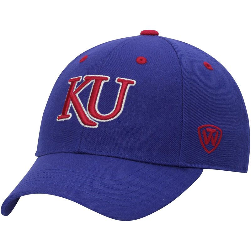 ab112a26b62 Kansas Jayhawks Top of the World Dynasty Memory Fit Fitted Hat - Royal Blue