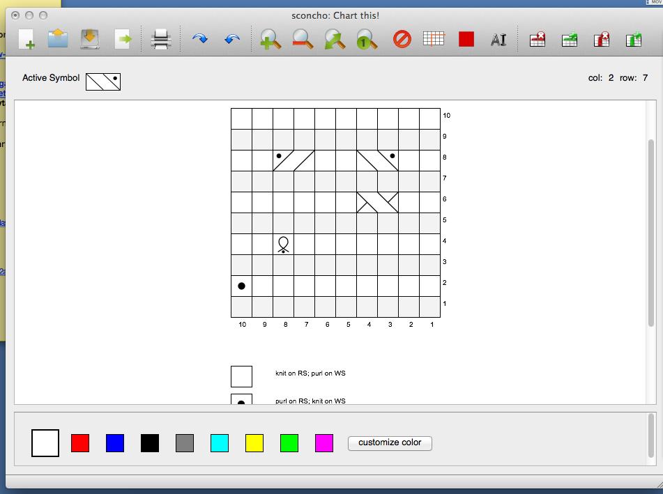 Sconcho Open Source Knit Chart Design Program