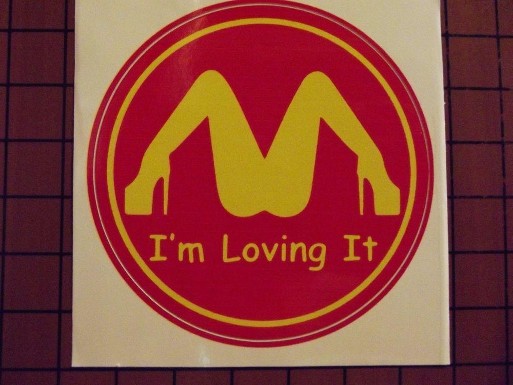 I/'m loving it McDonald/'s Funny JDM Vinyl Decal Sticker Car Truck Window