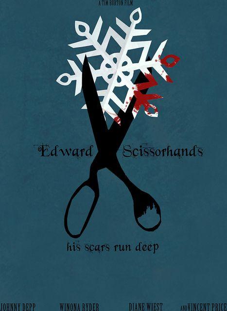 Edward Scissorhands 1990 Minimal Movie Poster By Helen Flight