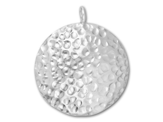 Hill Tribe Silver Hammered Round Pendant