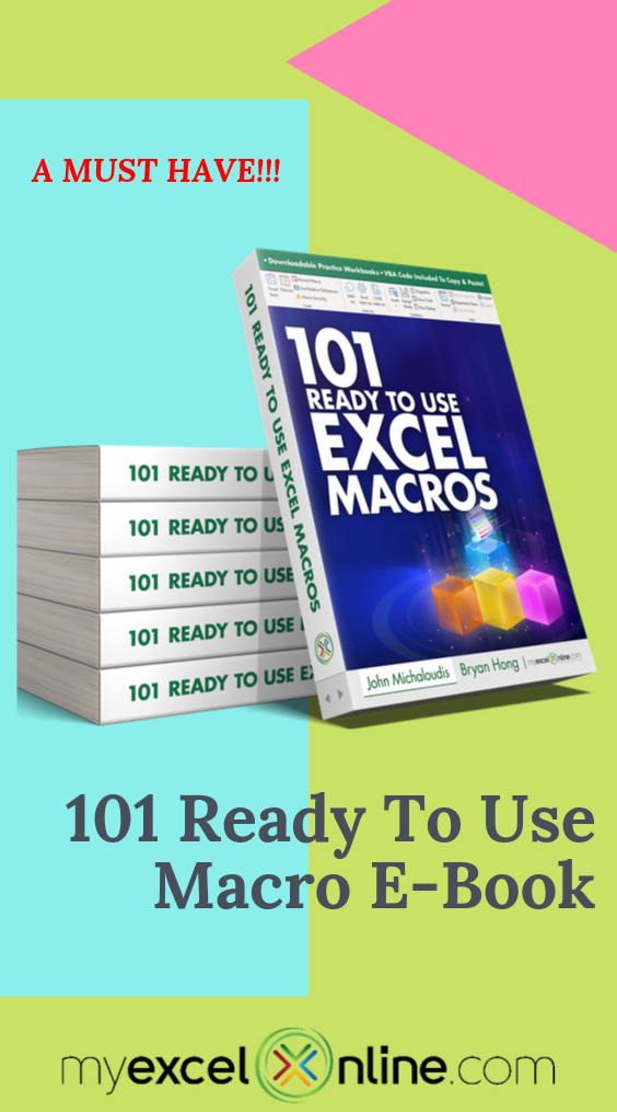 101 Ready To Use Excel Macros EBook (10 OFF) (With