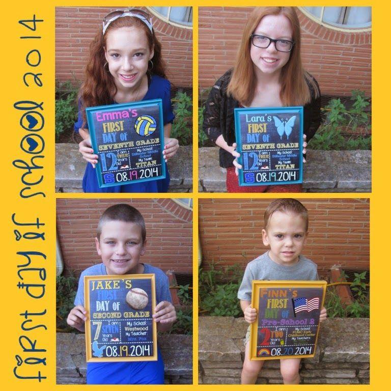 74a9e888b45 Six Dream Weavers  First Day of School 2014 Dream Weaver Prints custom signs