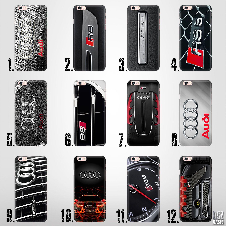 Audi logo rs s line quattro s5 s6 uv hard plastic case cover for