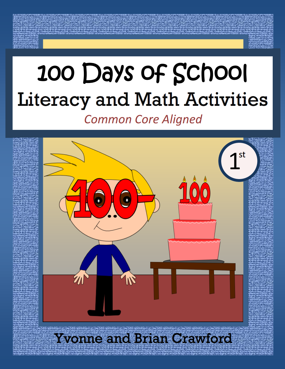 100th Day of School Math and Literacy Activities is a packet of 40 pages with a focus on math and literacy skills.