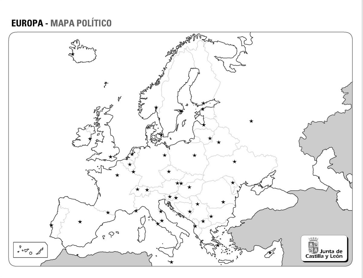 Mapa Politico Mudo Europa Imprimir.Mapas Fisicos Politicos Y Mudos De Europa 6 Ss Europa