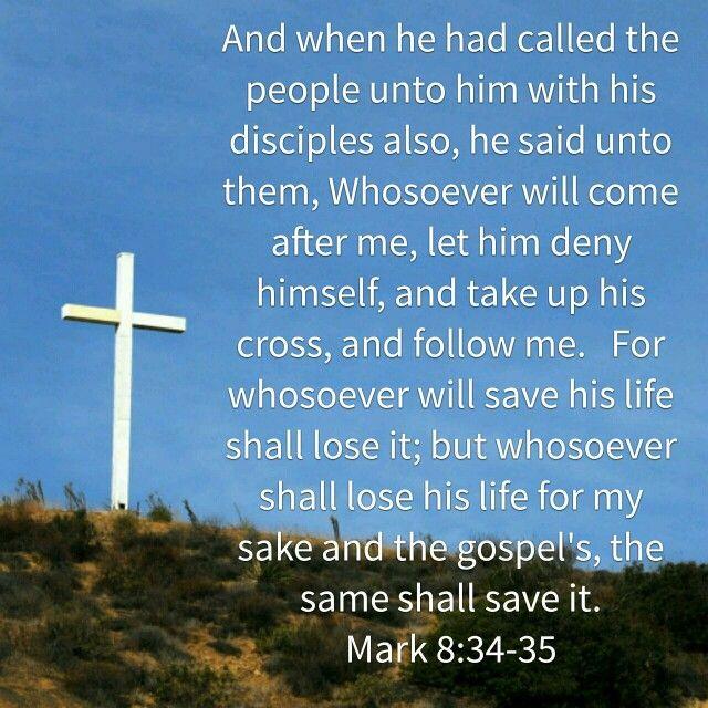 Image result for Mark 8:34-35