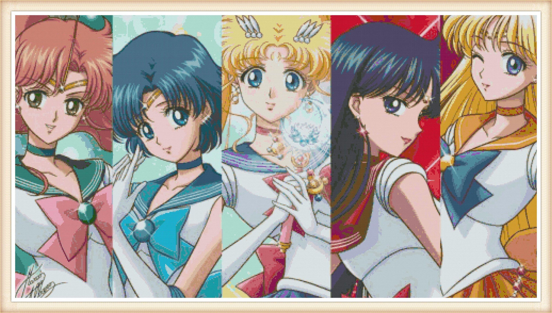 Sailor Moon Cross Stitch Pattern Anime Cross Stitch Pdf