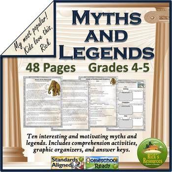 Myths and Legends Reading Comprehension. Fills curriculum gaps. #readingcomprehension