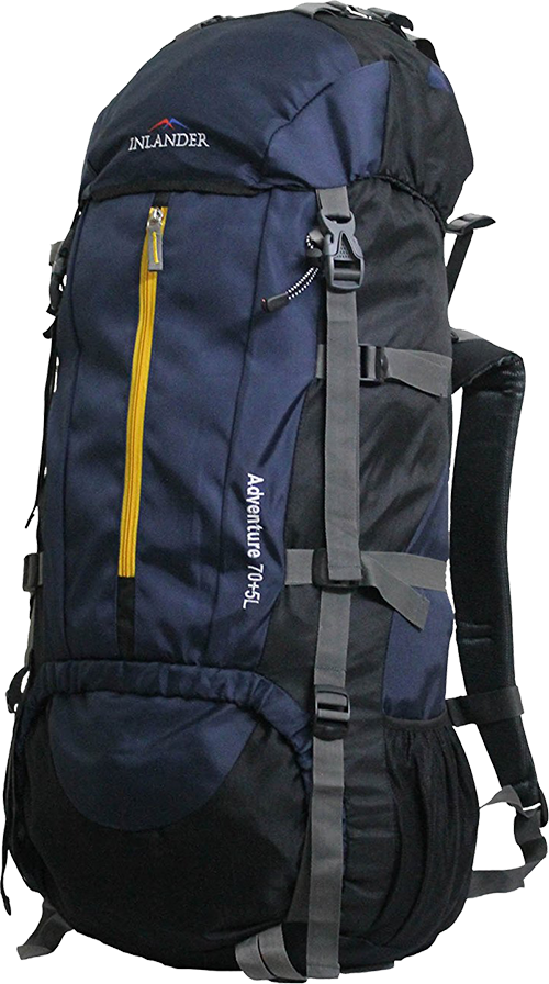 88a5dcc698a4 Buy Inlander 70L Navy Blue Travel Bag Backpacking Backpack for Outdoor  Hiking Trekking Camping Rucksack from Amazon.