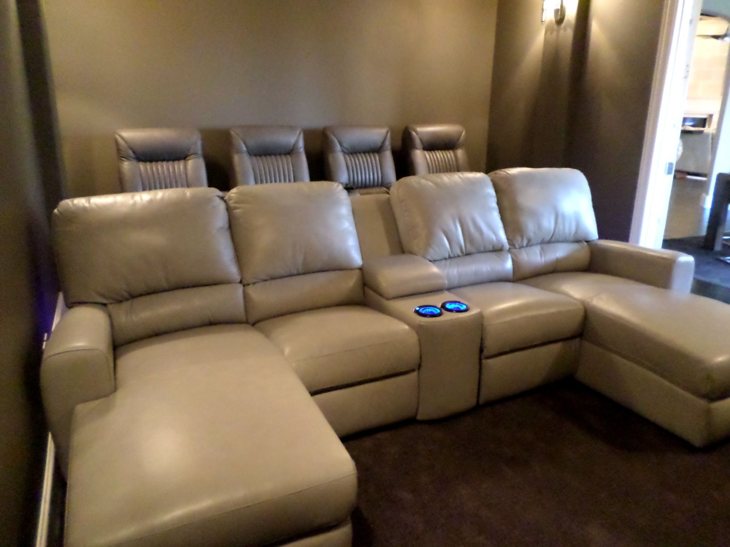 Home Theater Seating Sectional Sofa