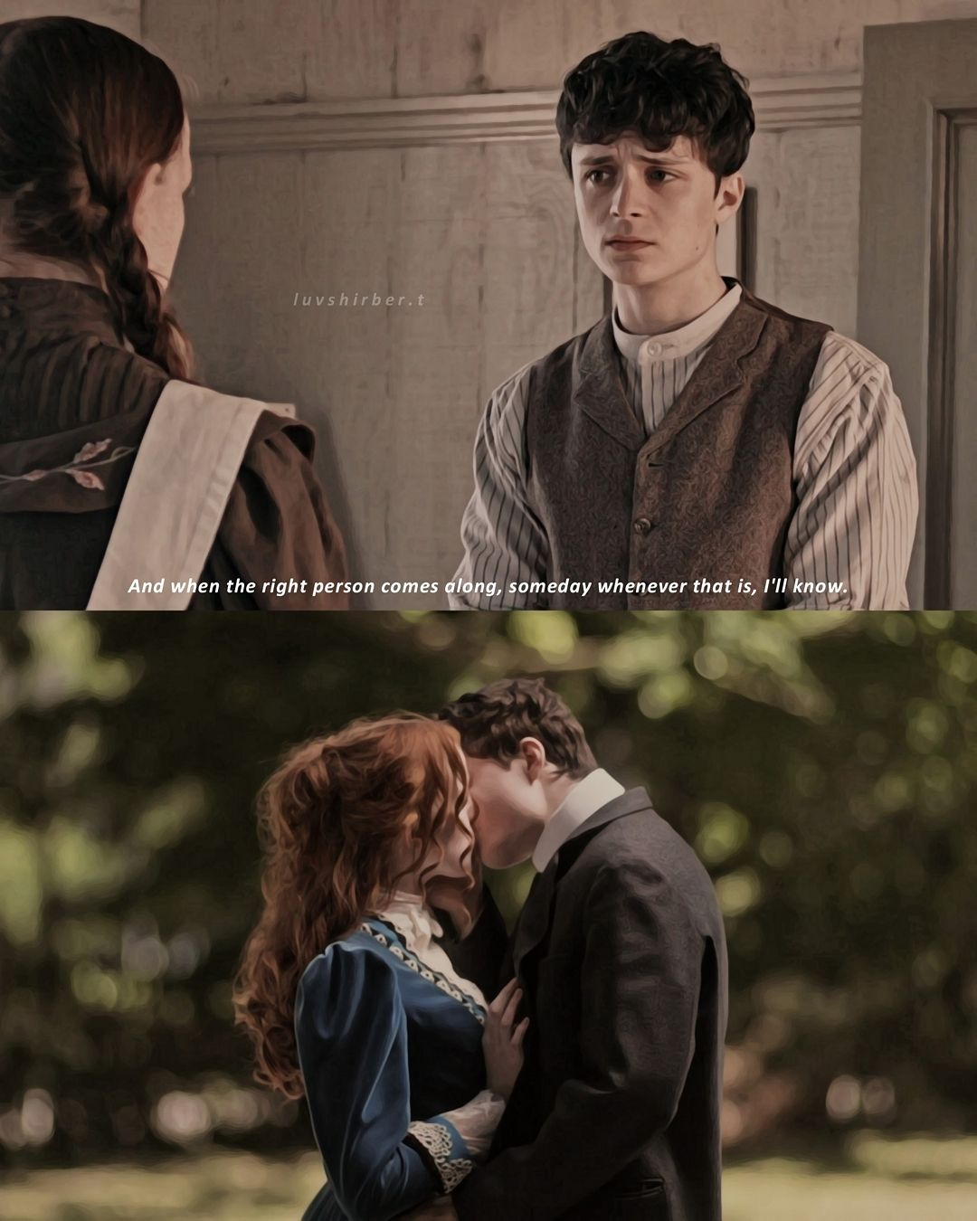"����� �️ on Instagram: ""[ SPOILERS S3 EP10 ] THIS REALLY HAPPENED THIS IS NOT A DREAM ANNE SHIRLEY CUTHBERT AND GILBERT BLYTHE FUCKING KISSED. - tags #annewithane…"""