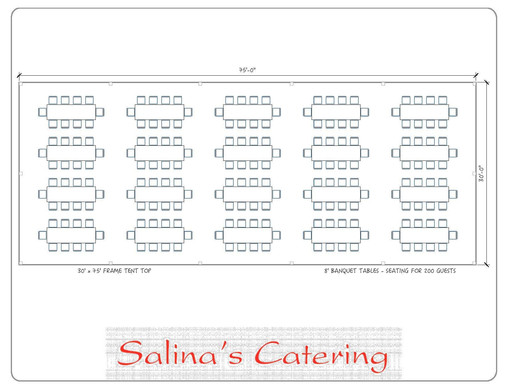 Use This Layout For Your 30x75 Tent In Order To Optimize How Many Guests You Can Seat With This Layout You Will Be Table Seating Seating Arrangements Seating