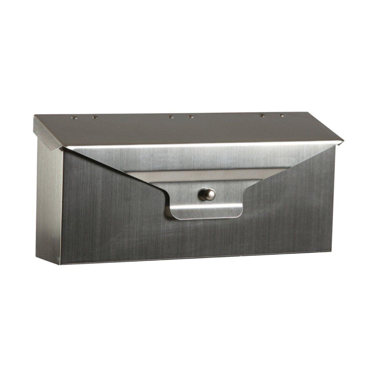 35 21 Amazon Com Gibraltar Mailbox 6 9 H X 15 6 W X 3 8 D Stn Nkl Hardware Wall Mount Mailbox Mounted Mailbox Stainless Steel Mailbox