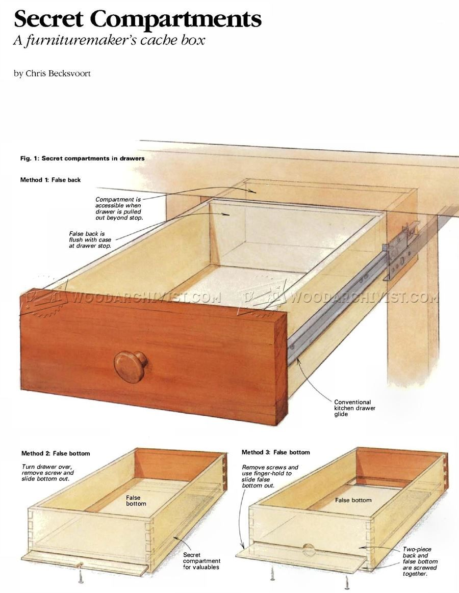 1955 Furniture Secret Compartments Furniture Plans Woodworking
