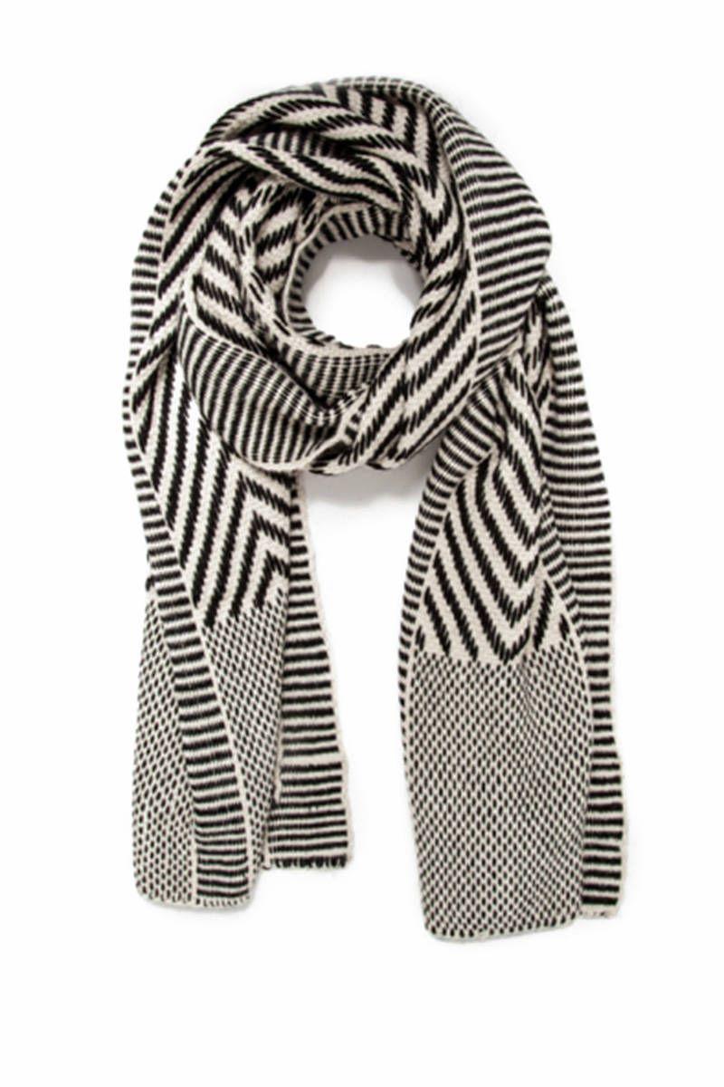 chevron wrap scarf - Black VOZ KS4lW