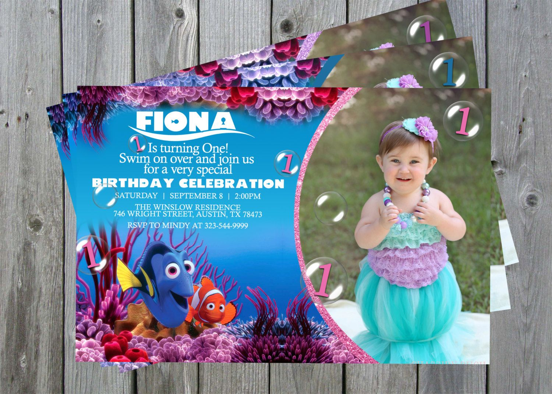Finding Nemo Birthday Invitations, Finding Nemo Invitations, Finding ...